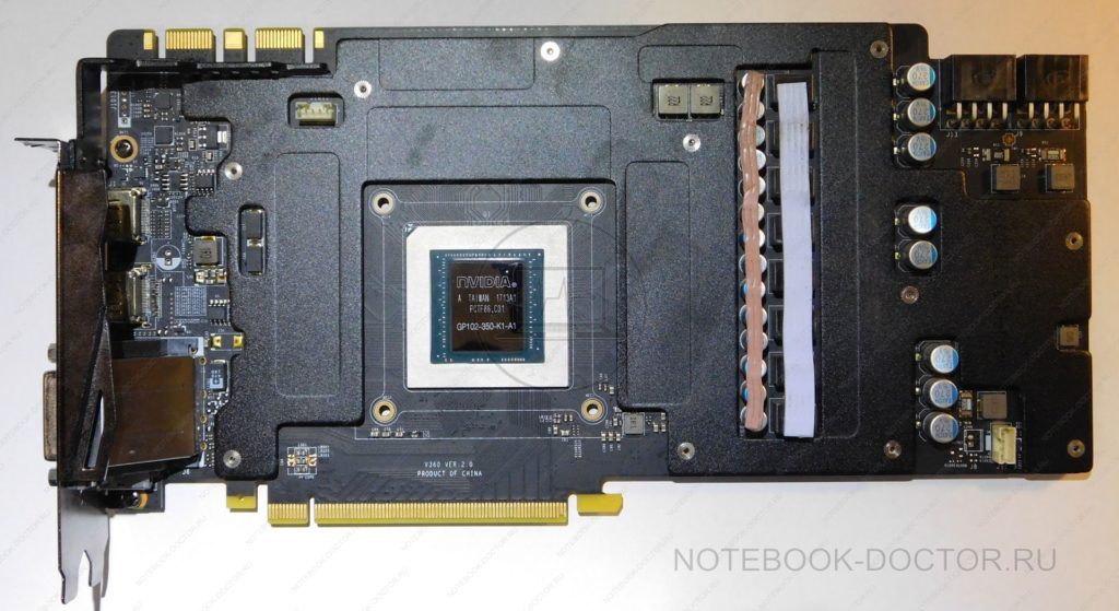 MSI GTX1080TI DUKE 11G OC без системы охлаждения