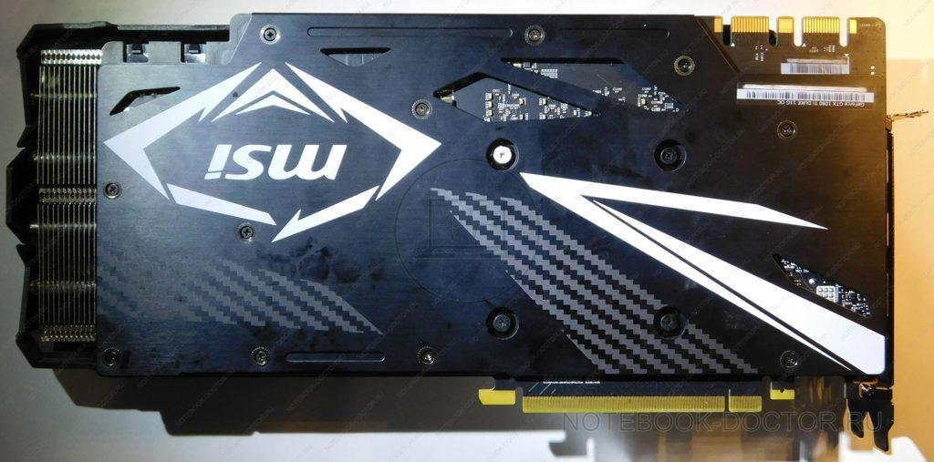MSI GTX1080TI DUKE 11G OC вид сзади